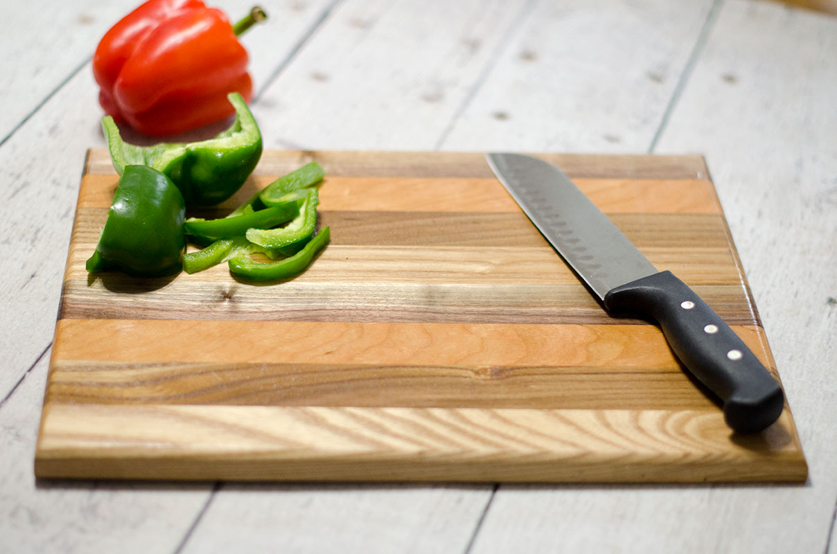 SOLD - Natural Wood Handmade Cuttingboard - Stripes