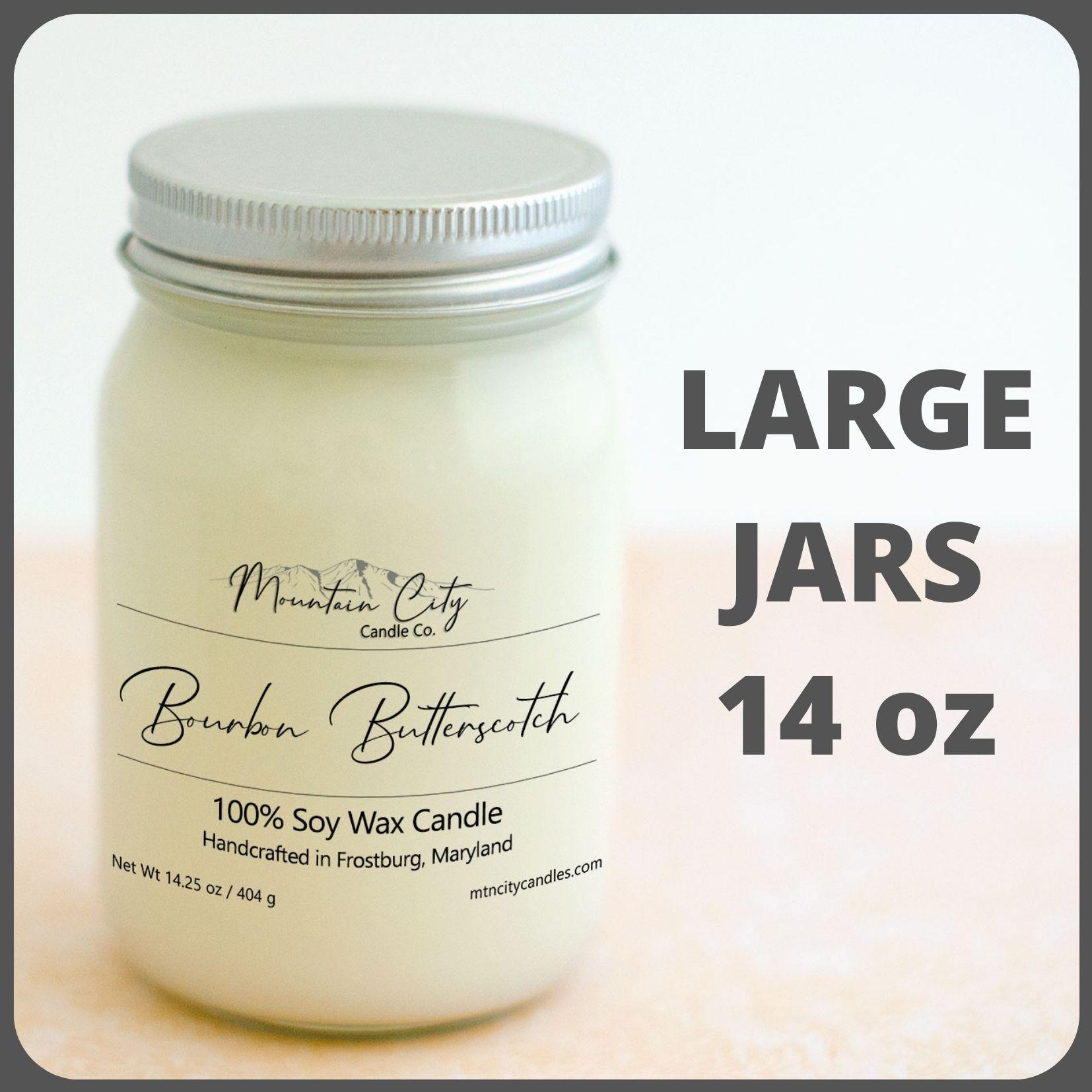 large jar soy candles