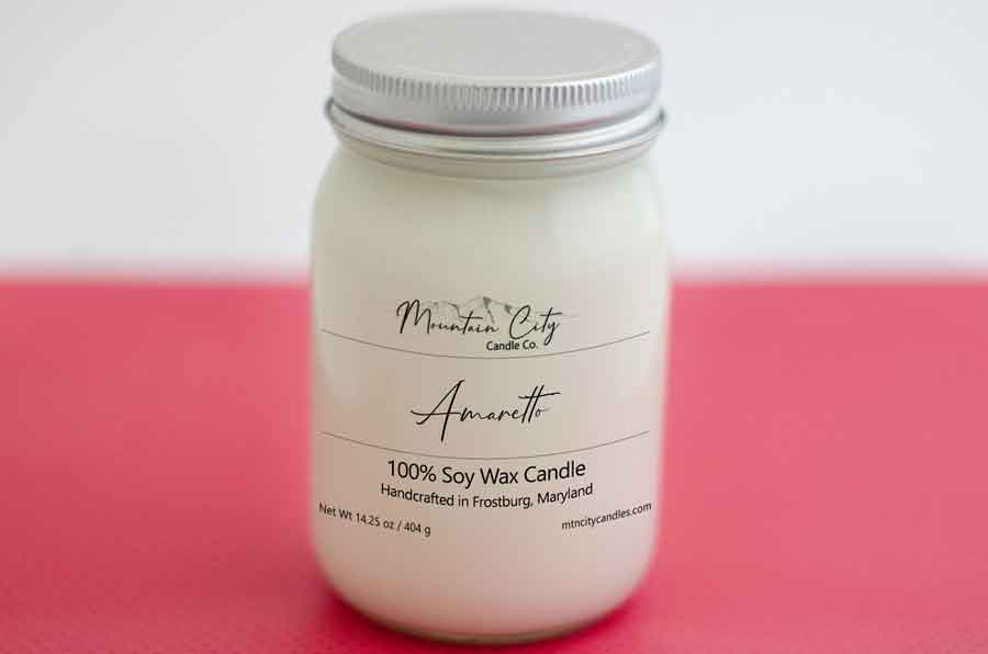 Amaretto 14 oz Soy Wax Jar Candle