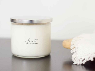 Amaretto Scented 3 wick candle
