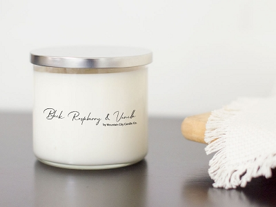 Black Raspberry Vanilla Scented 3 wick candle