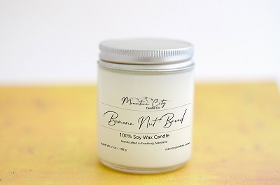 Banana Nut Bread 7 oz Soy Wax Jar Candle