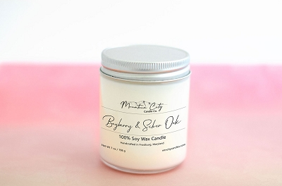 Bayberry & Silver Oak 7 oz Soy Wax Jar Candle
