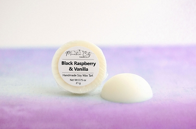 Black Raspberry Vanilla scented soy wax tart