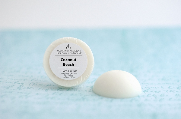 coconut beach scented soy wax tart