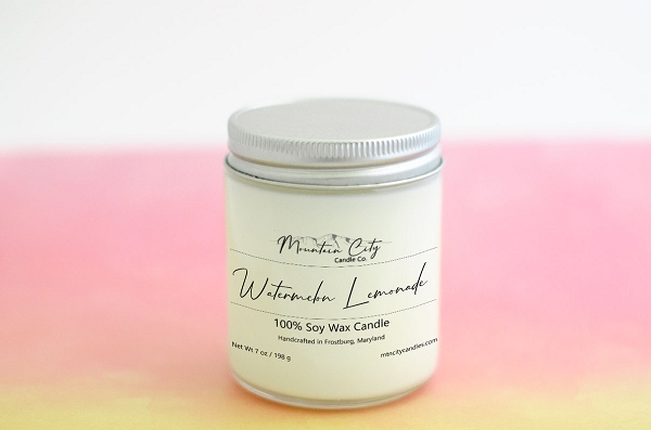 Watermelon Lemonade Scented jar candle