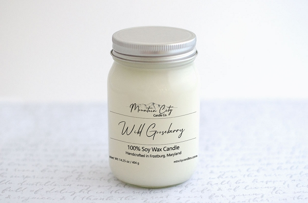 Wild Gooseberry 14 oz Soy Wax Jar Candle