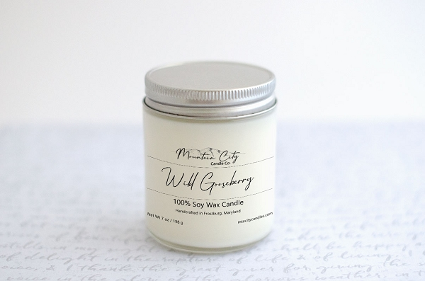 Wild Gooseberry 7 oz Soy Wax Jar Candle
