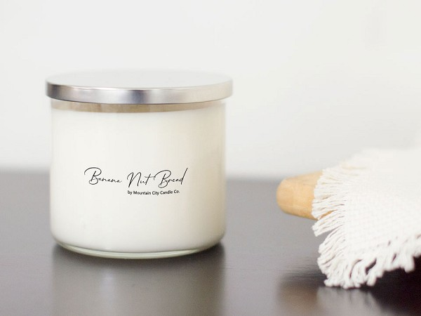 Banana Nut Bread Scented 3 wick candle